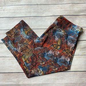 ONZIE | snakeskin print crop leggings M/L